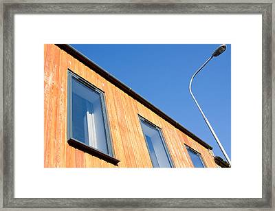 Wooden Building Framed Print by Tom Gowanlock