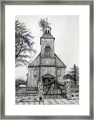 Wooden Church 2 Framed Print