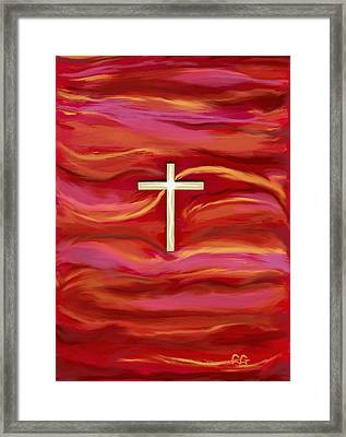 Wooden Cross Framed Print by BlondeRoots Productions