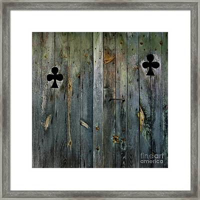 Wooden Door Framed Print by Bernard Jaubert