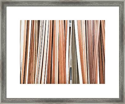 Wooden Floor Trims Framed Print by Tom Gowanlock