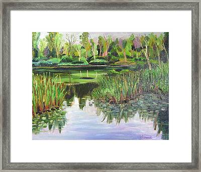Woodland Reflections Framed Print by Richard Nowak