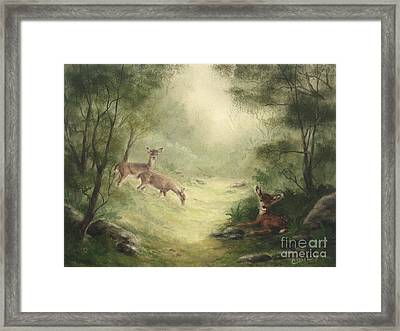 Woodland Surprise Framed Print by Cathy Cleveland