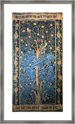 Woodpecker Tapestry Framed Print