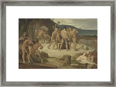 Work Framed Print by Pierre Puvis de Chavannes
