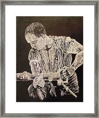 Working Man Framed Print by Tammera Malicki-Wong