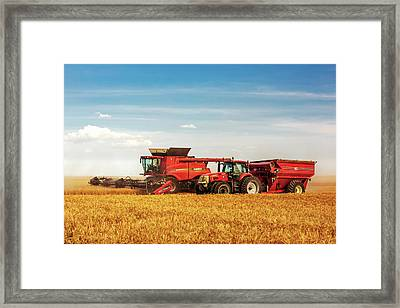 Working Side By Side Framed Print by Todd Klassy