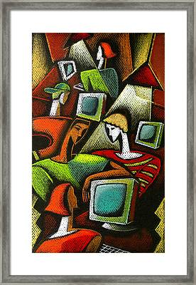 Working Together Framed Print by Leon Zernitsky
