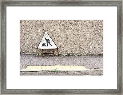 Works Sign Framed Print by Tom Gowanlock