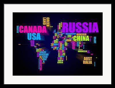 Russia Mixed Media Framed Prints