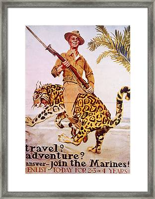 World War I American Recruiting Poster Framed Print by Everett