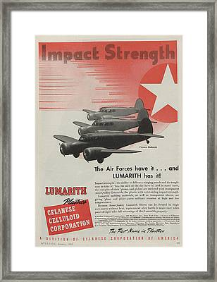 World War II Advertisement Framed Print by American School