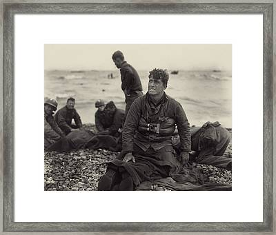 World War II. American Soldiers Framed Print by Everett