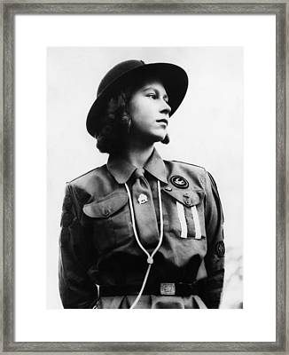 World War II. Future Queen Of England Framed Print