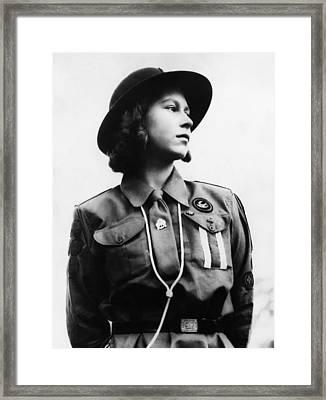 World War II. Future Queen Of England Framed Print by Everett