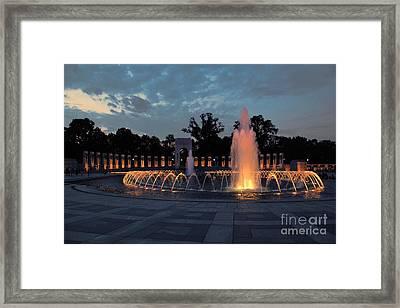 World War II Memorial Fountain Framed Print