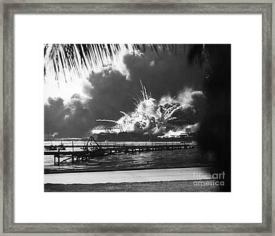 World War II: Pearl Harbor Framed Print by Granger