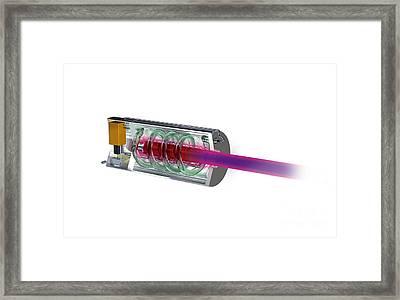 Worlds First Working Laser, Artwork Framed Print by Claus Lunau