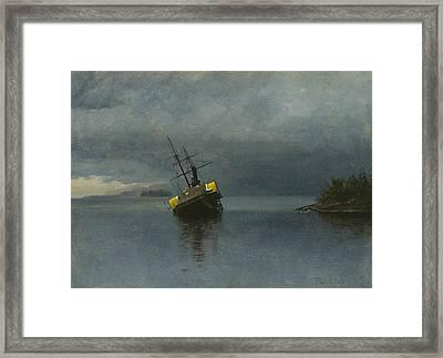 Wreck Of The Ancon Framed Print by Albert Bierstadt