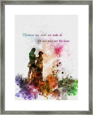 Wuthering Heights Framed Print by Rebecca Jenkins