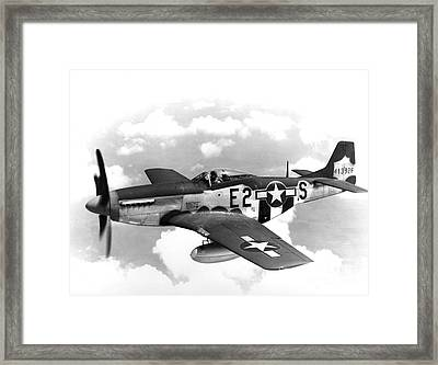 Wwii, North American P-51 Mustang, 1940s Framed Print