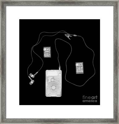 X-ray Of A Portable Audio Player Framed Print by PhotoStock-Israel
