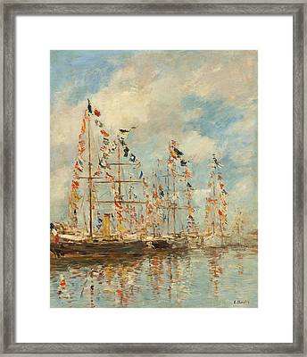 Yacht Basin At Trouville - Deauville Framed Print by Mountain Dreams