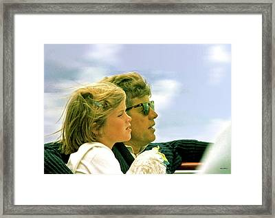 Yachting With John F. Kennedy And Caroline, Cape Cod, Ma Framed Print