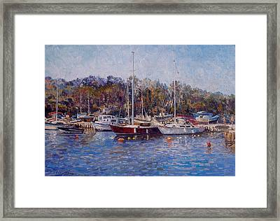 Yahts At The Black Sea Framed Print by Andrey Soldatenko