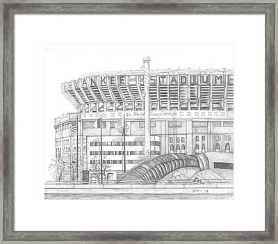 Yankee Stadium Framed Print by Juliana Dube