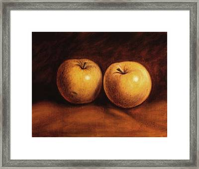 Yellow Apples Framed Print by Rick McClung