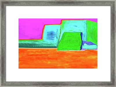 Yellow Ground By Nixo Framed Print