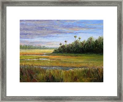 Yellow Marsh Framed Print by Beth Maddox