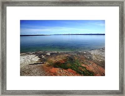 Framed Print featuring the photograph Yellowstone Lake Colors by Frank Romeo
