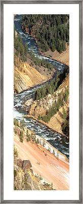 Yellowstone River, Yellowstone National Framed Print