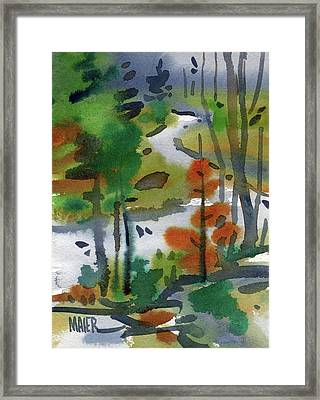 Yellowstone Study Framed Print by Donald Maier