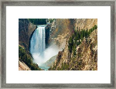 Yellowstone Waterfalls Framed Print by Sebastian Musial