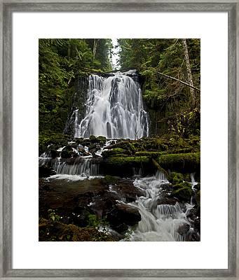 Yocum Falls Oregon Framed Print