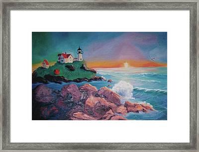 York Beach Maine Framed Print