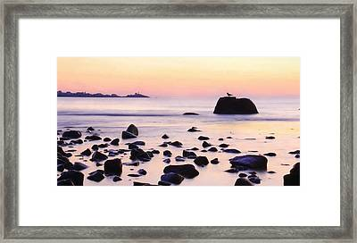 York Harbor At Dawn Framed Print