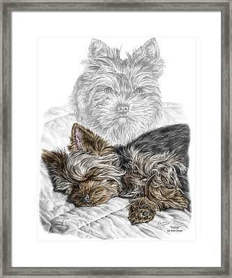 Yorkie - Yorkshire Terrier Dog Print Framed Print