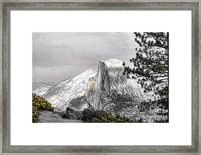 Yosemite Half Dome Framed Print by Chuck Kuhn