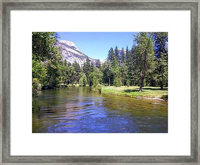 Yosemite Lazy River Framed Print