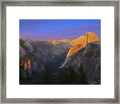 Yosemite Summer Sunset 2012 Framed Print