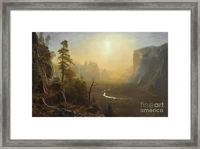 Yosemite Valley, Glacier Point Trail Framed Print by Albert Bierstadt