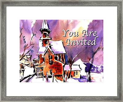 You Are Invited Framed Print