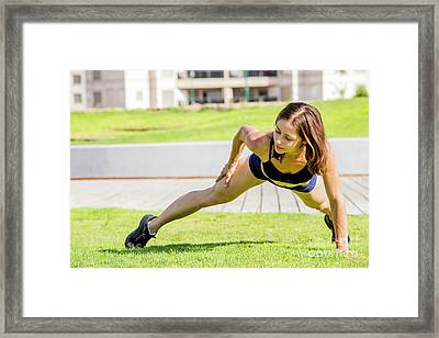 Young Female Bodybuilder  Framed Print by Sv
