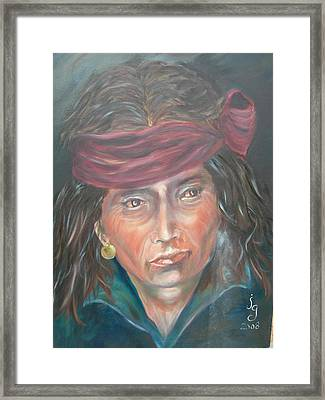 Young Navjo Framed Print by Judie Giglio