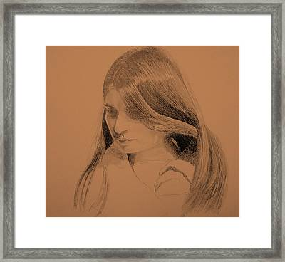 Young Woman Framed Print by Susan Tilley