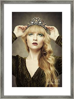 Young Woman Wearing Crown Framed Print